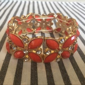 Charming Charlie gold and red bracelet